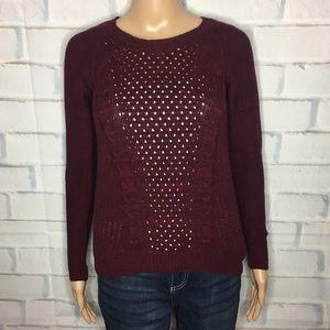 SO Maroon Knit Sweater